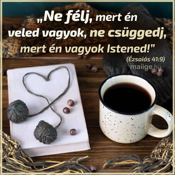 """""""Ne félj, mert én veled vagyok, ne csüggedj, mert én vagyok Istened!."""" (Ézsaiás 41:9)"""